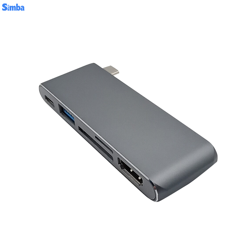 USB-C Docking Station Type C to HDMIVGA SD USB 3.0 RJ45 Network Adapter Hub With PD Charging For Phone Tablet
