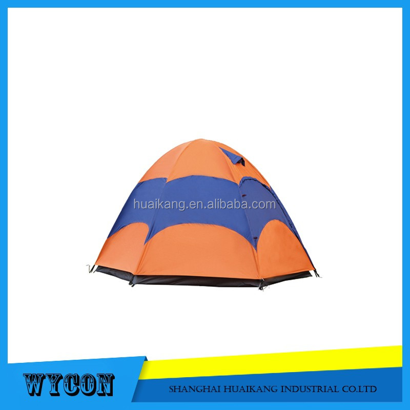 dome family 6 person double layer ripstop polyester family camping tent with fiberglass pole