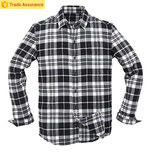Mens Long Sleeve Heavy Cotton Flannel Plaid Winter Shirts