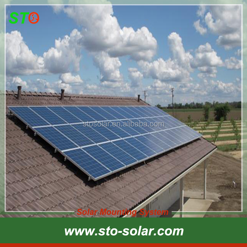 Pitched Tile Roof Solar Panel Mounting System