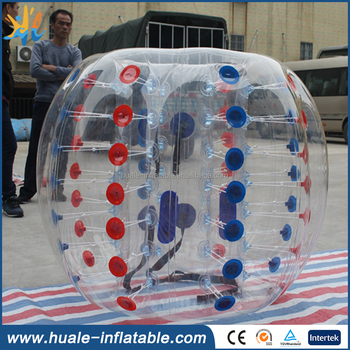 Top Sale 1.5m 1.0mmTPU Half Blue Soccer Bubble Ball / Inflatable Sumo Ball For Adult Football
