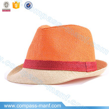 Sugar color summer beach parties unisex straw hats fedora style