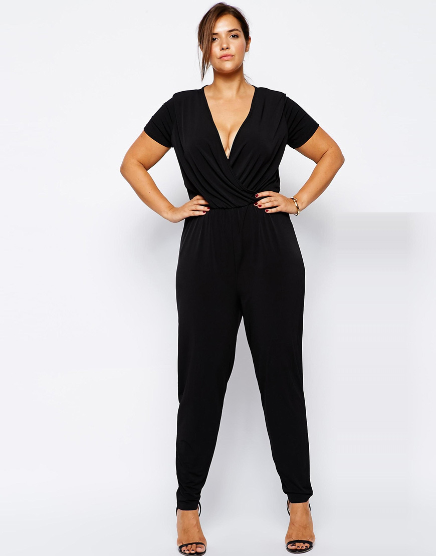 Buy Womens Sexy V Neck Jumpsuit Plus Size Jumpsuit Casual Romper 5xl