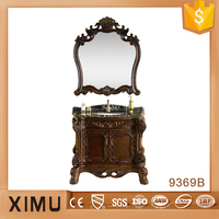 antique handmade solid wood bathroom mirror cabinet