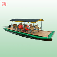 Hot sale PVC bamboo sightseeing boat