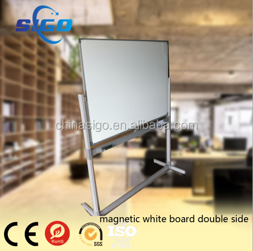 High quality mobile magnetic white board with wheels legs