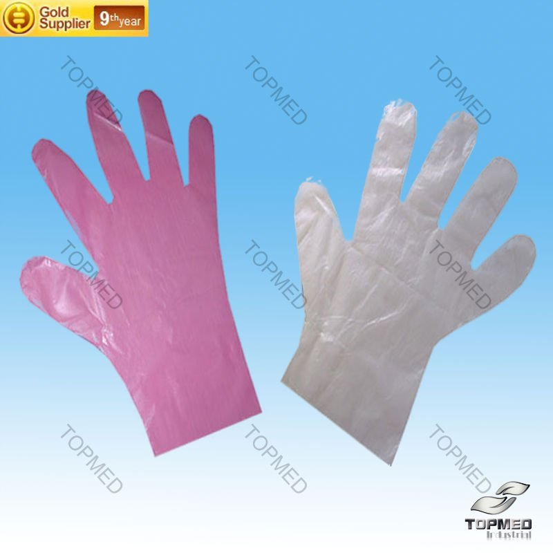 Cheap Lighter Clear color Disposable PE Glove