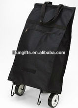 2014 folding shopping trolley bag with 2 wheels