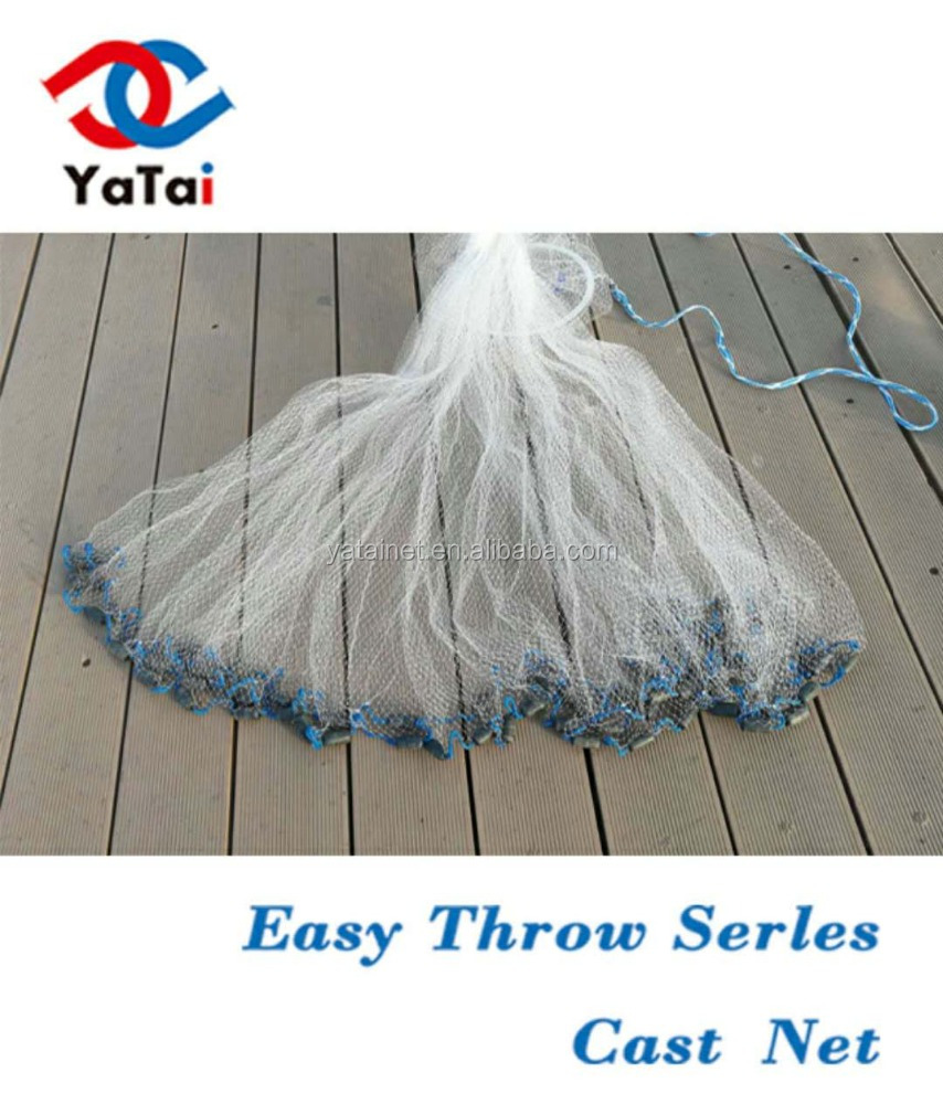 erican Style Nylon Monofilament Easy Throwing Cast net Bait Net hand