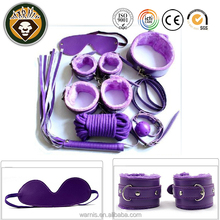 Under Bed Restraint System Bondage Cuffs Strap 7 Set Kit Rope Adult Sexy Toy (Purple)