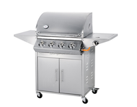 New design stainless steel LGP gas indoor commercial bbq gas grill