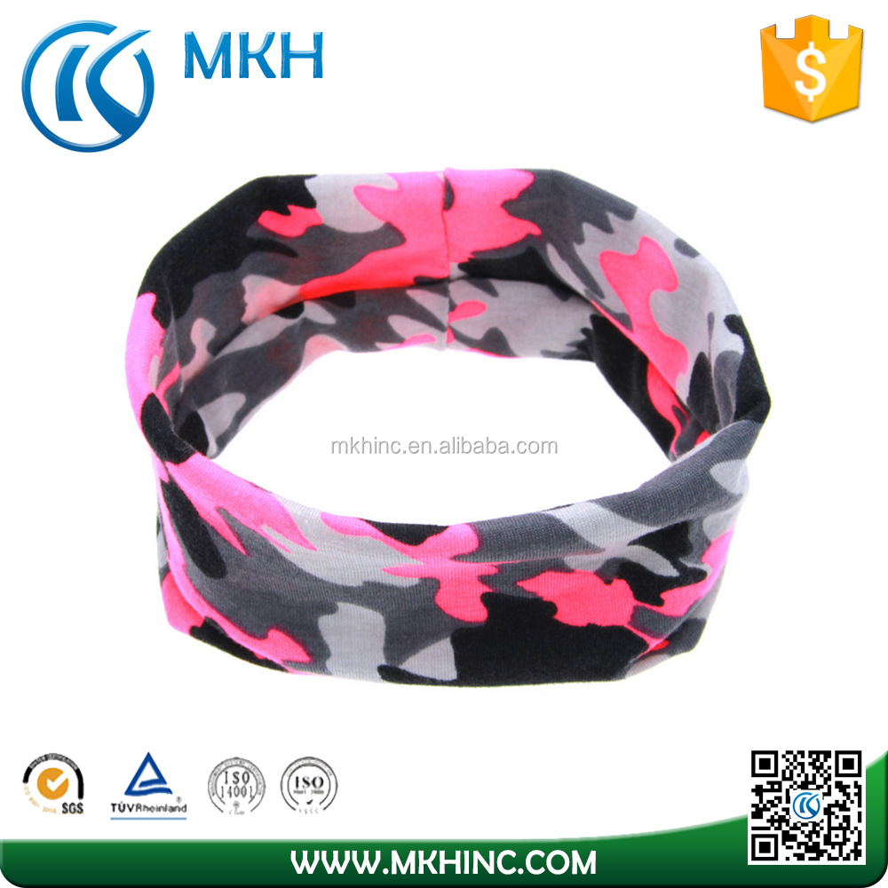 Free sample 2017 Wicking Custom Your own logo Sports Headband