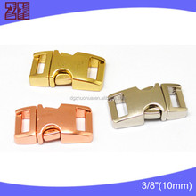 "Factory supply 3/8"" bag buckle metal,side release buckle wholesale,curved buckle"