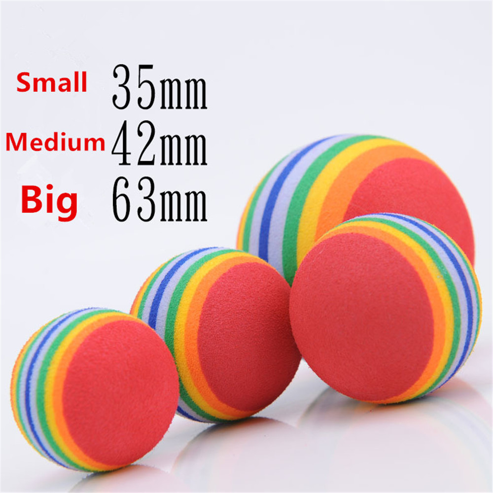 Hot Selling Cheap Cat Dog Pet Toys Rainbow EVA Cotton Bouncing Ball