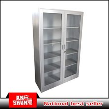 Hot Selling pharmacy equipment hospital furniture metal Sliding glass door cabinet