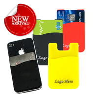 2013 hot sale self adhesive silicone mobile wallet