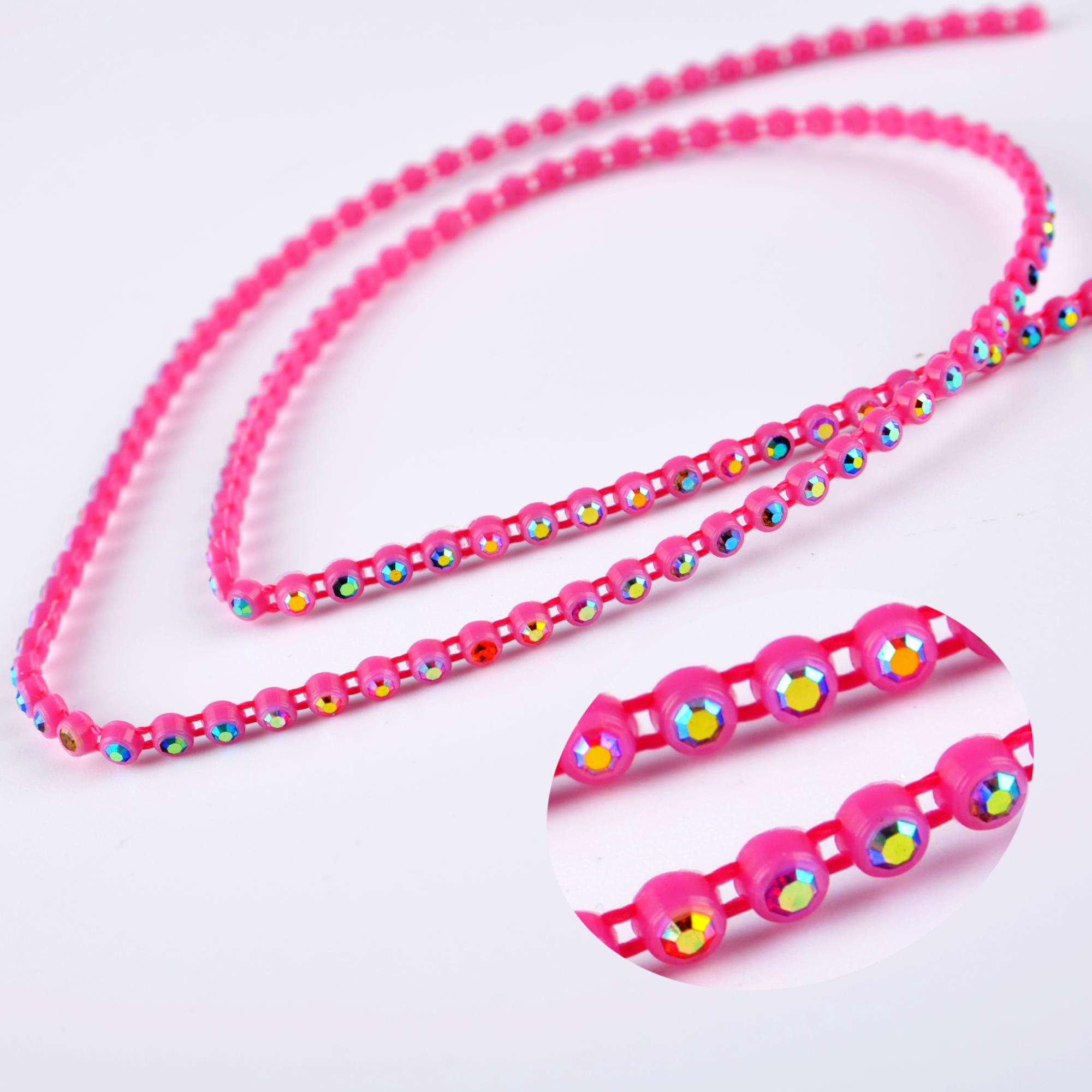 Plastic Rhinestone Banding For Garment Trimming