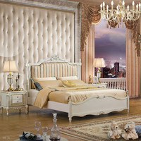 TX609-1- solid wood double bed/white antique bedroom furniture set