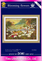 flower needlework kit for embroidery cross stitch dimensions