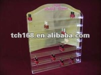 Acrylic Wall Nail Polish Display Rack with mirror back