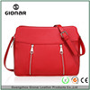 New Style European Style Fashion Red Zips Girl's Crossbody Bag