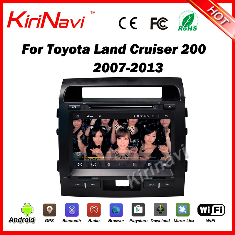 "Kirinavi WC-TL9006 9"" android 5.1 car multimedia for toyota Land Cruiser 200 2007-2013 android car dvd WIFI 3G BT Play Store"