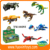 outdoor construction plastic dinosaur building blocks