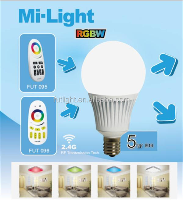 qualified wifi bulb led 4w E14 indoor use remote control ww/cw led buld 4w with CE&RoHS