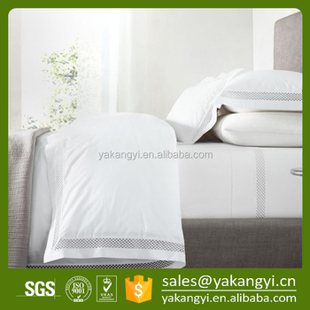 New Design Embroidery Pattern Pure Cotton Hotel Linen Bedding Set