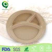 natural BPA free divided dinner 5 compartment paper plates