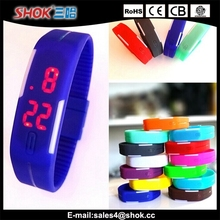 NEW fashion high quality silicone bracelet LED sport wrist watch