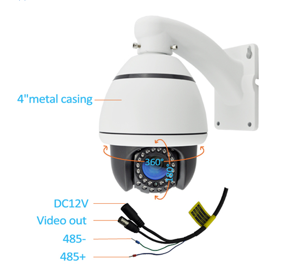 Mini Ptz Camera 1/3 Sony CCD 10X 700 TVL Middle Speed PTZ Camera