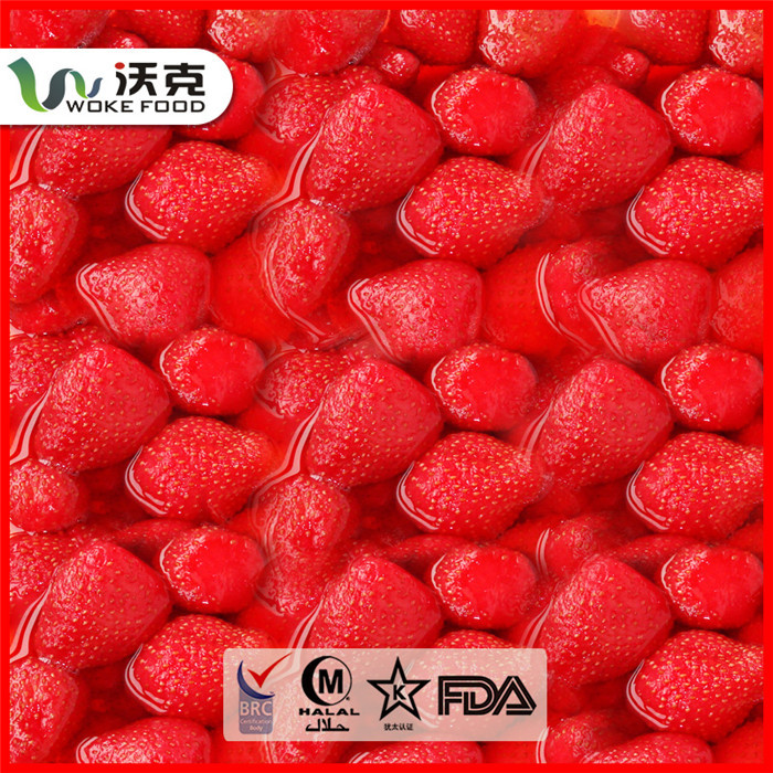 Export Hot sale 425g Canned strawberry in light syrup BRC certification Europe market