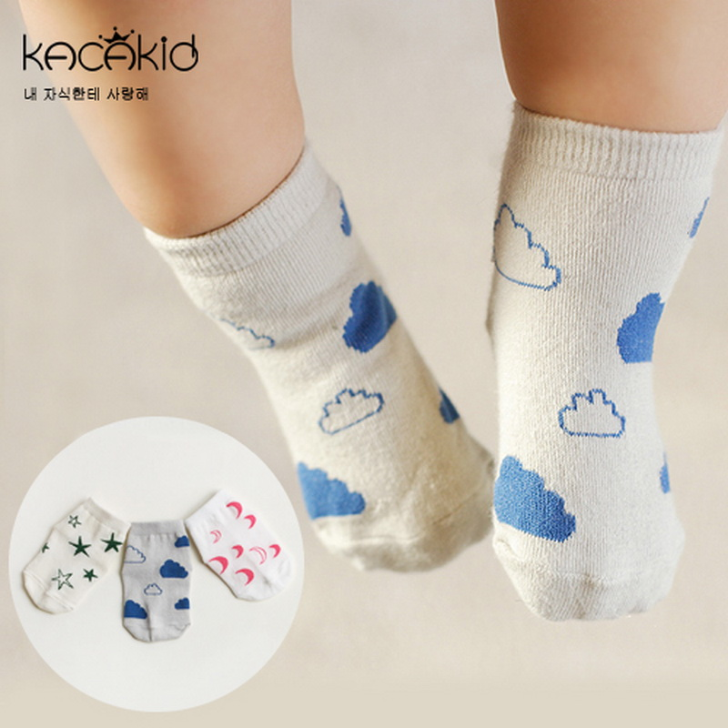 YESUN SU1039 New arrival OEM 100% Organic Cotton Happy Cute Baby Socks Cotton