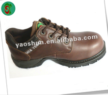 Anti-oil light weight genuine leather ankle safety working shoes and safety jogger shoes
