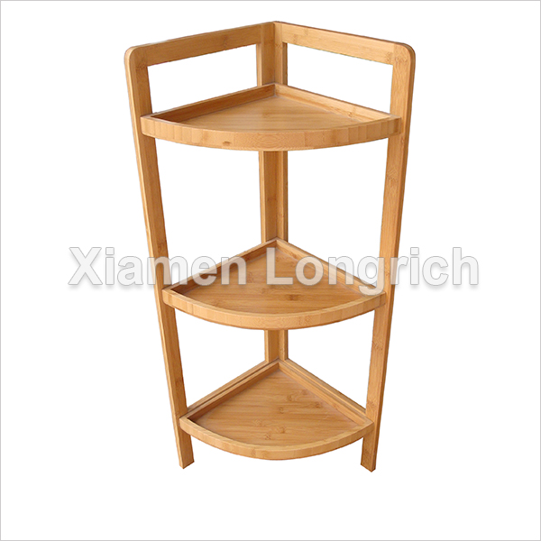 3 Tiers Bamboo Bathroom Corner Rack