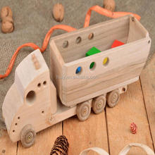 China manufature for wood crafts wooden kids toy car children toys