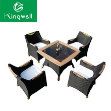 Wicker and wood furniture from china with prices use for dinning room set