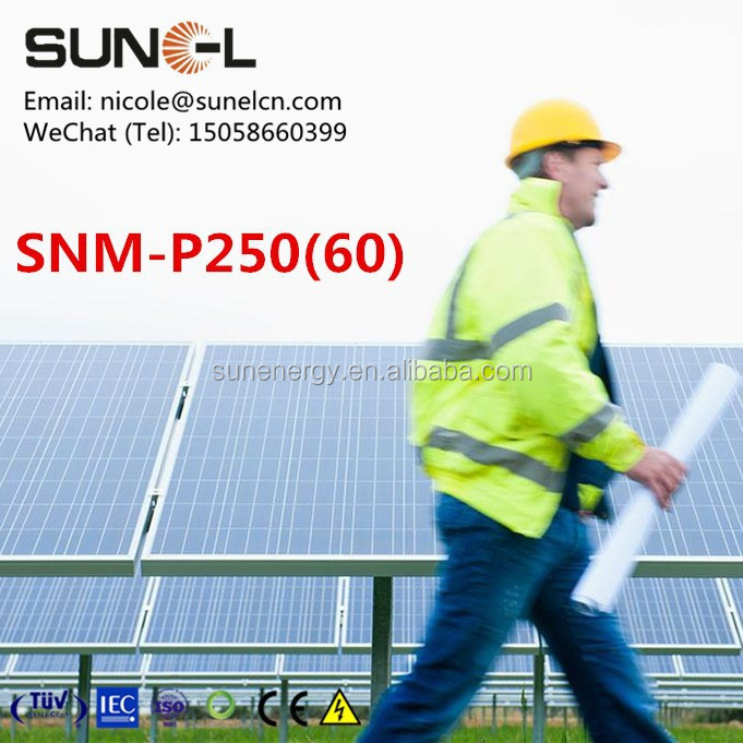 SUNEL brand stock of 250W solar panel polycrystalline SNM-P250(60)