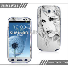 decal OEM cover for samsung phone s3 i9300 with CBRL form!!