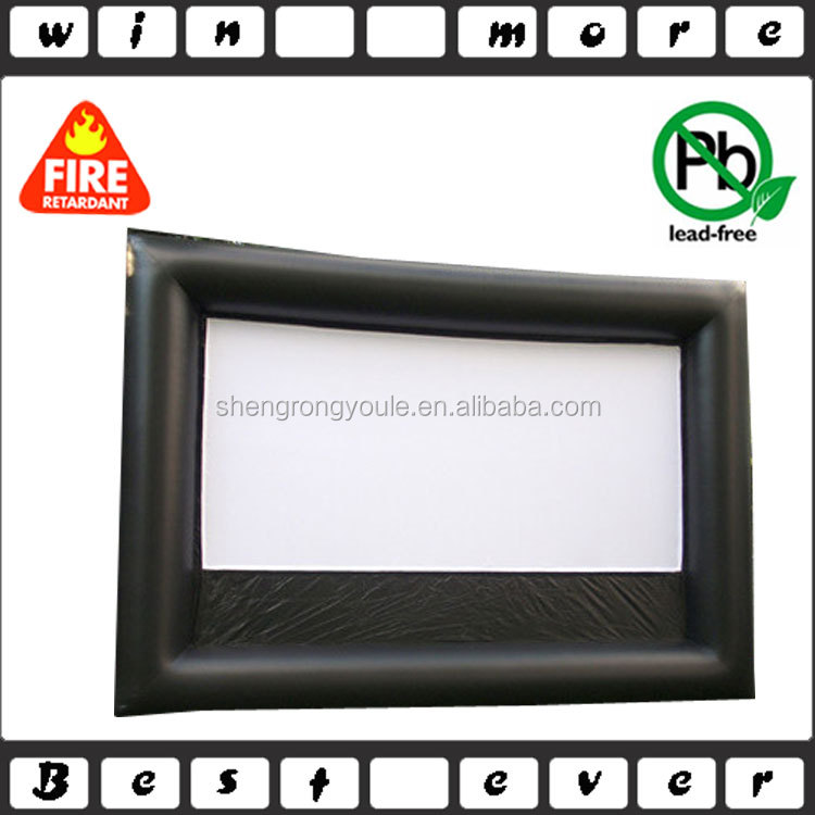 large outdoor widescreen inflatable movie screen for sale
