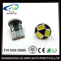 Super bright t10 5630 3smd license plate light auto car led light