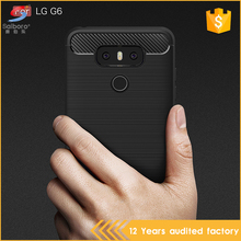 High quality brushed carbon fiber tpu phone case for lg g6,for lg g6 mobile cover phone case carbon