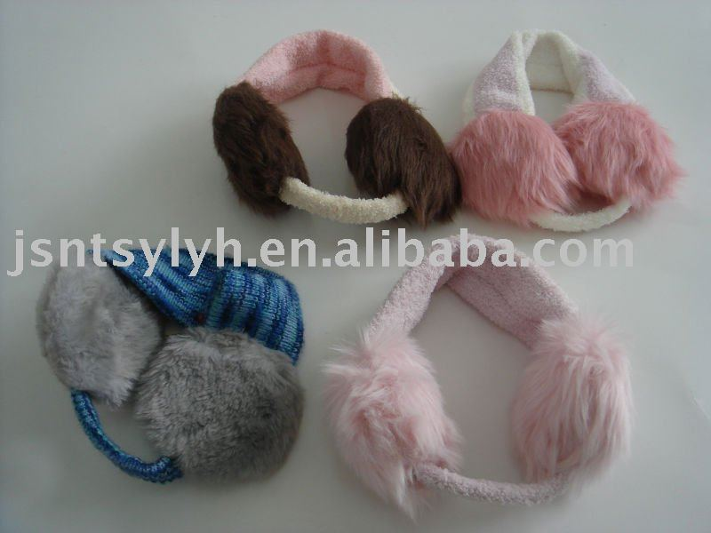 2014 Fashion Knitted Warm Earmuffs with logo