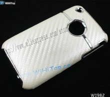 Color White. Carbon Fiber Skin Caes for iPhone 3Gs. Skin Hard Cse for iPhone 3gs.