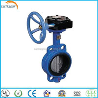 Manufacture PN10 Wafer Type Worm Gear Operated Butterfly Valves DN200