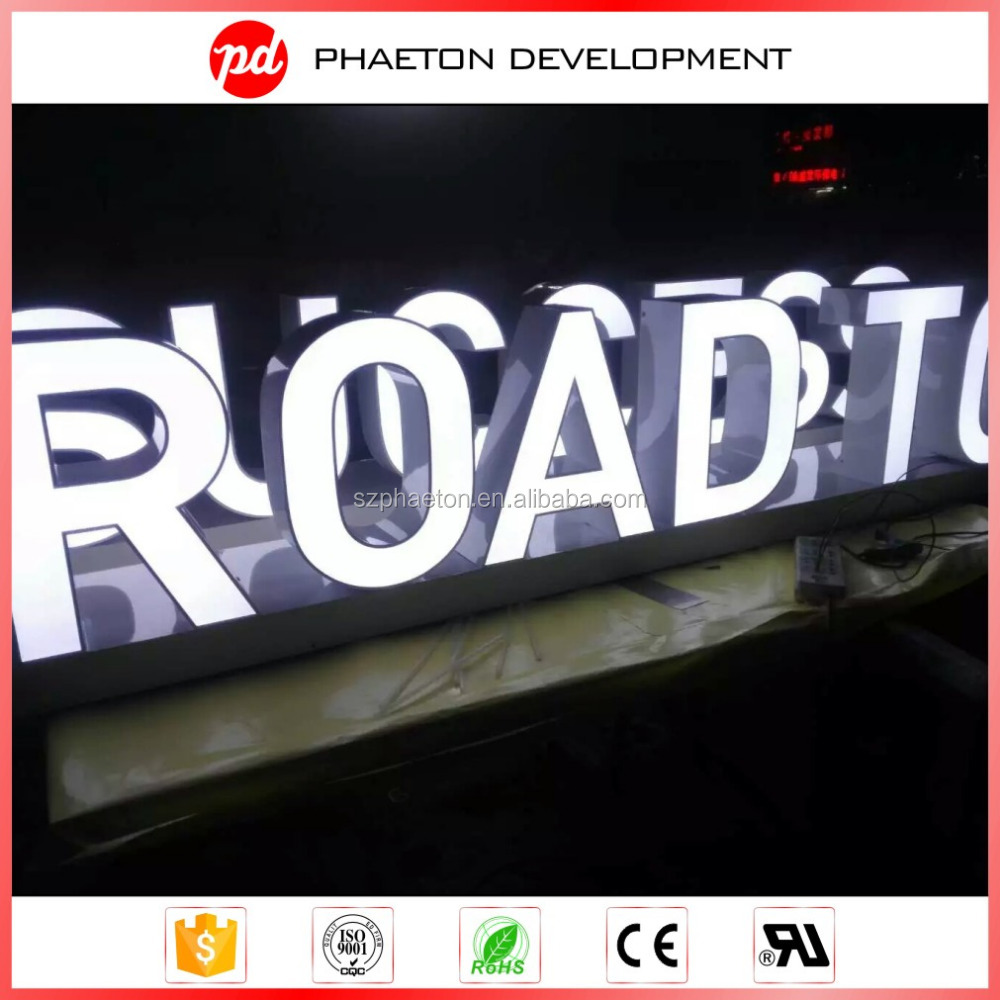 Custom waterproof acrylic frontlit led outdoor 3d advertising boards
