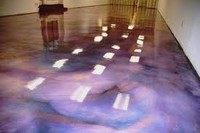 Maydos lobby and office color mixed artist epoxy floor decorative paint