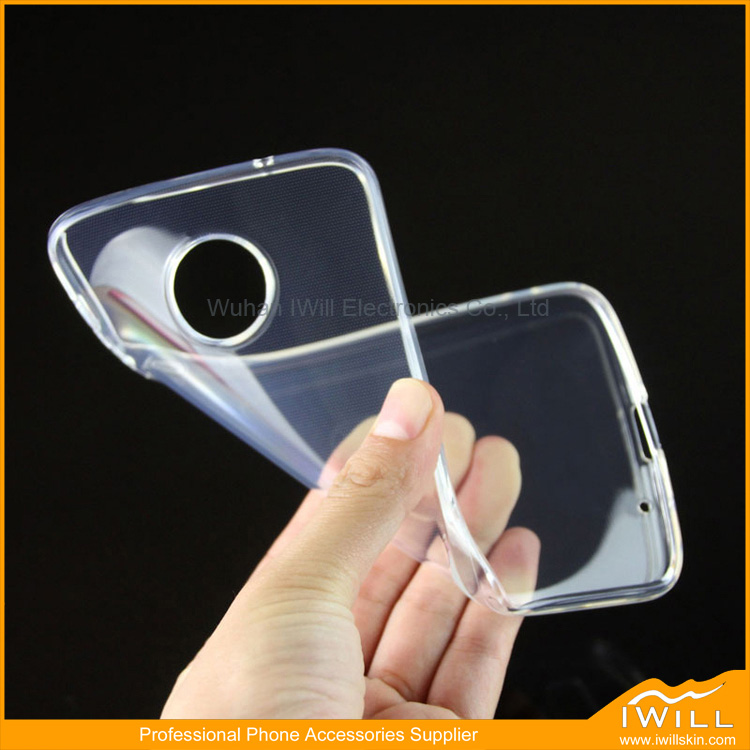 Anti Dust Transparent Mobile Phone Clear TPU Cover For Moto Z Force Case Accessory