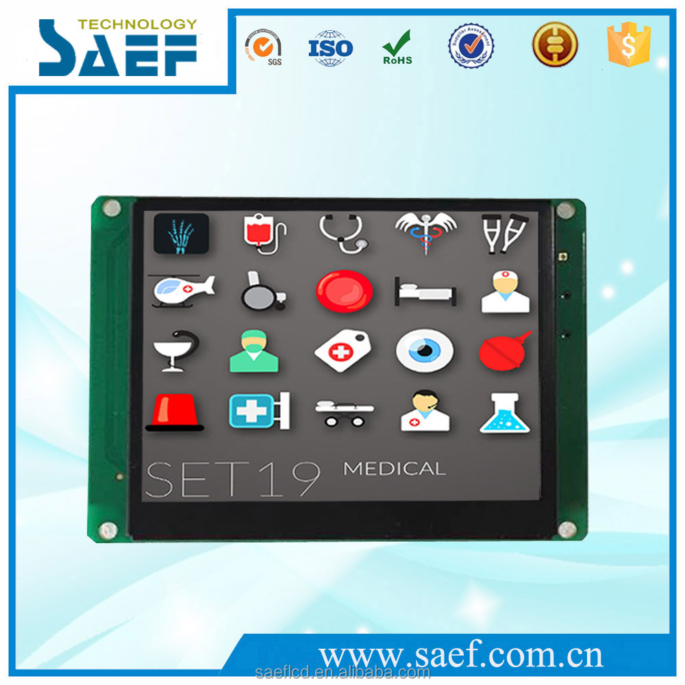 "3.5"" tft lcd display 320x240 with RS232/TTL seriel interface and controller for industries"